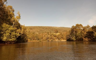The confluence – joining the Goulburn river and my canoe